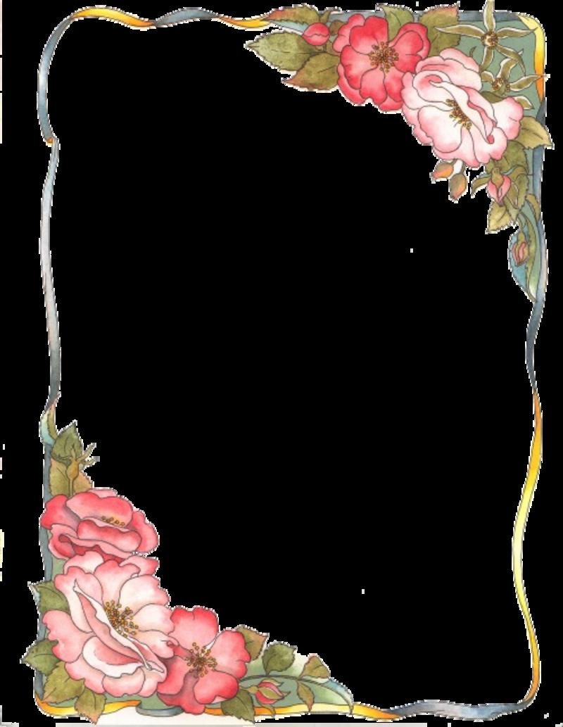 Cornici ed angoli gif e tube for Colorare le rose