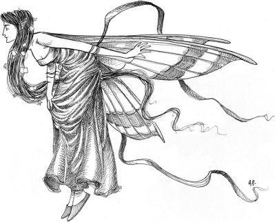 Fata viola con ali spiegate silph - Fata immagine da colorare ...
